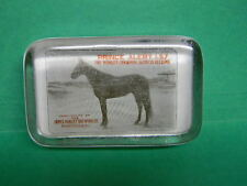 RARE JAMES HANLEY HANLEY'S ALE BEER HORSE PAPERWEIGHT PROVIDENCE RI RED VERSION
