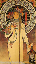THE TRAPPISTINE, 1897 Alphonse Mucha Reproduction Rolled CANVAS PRINT 24x40 in.