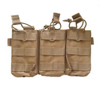 ac1603f364a1 FOX Triple Magazine Rip Away MOLLE Mag Pouch - 5.56 or .223 Rifle - Coyote