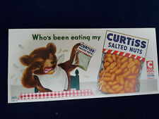 Vintage 1950's Curtiss Salted Nuts Display Sign - With 3 Bears Theme
