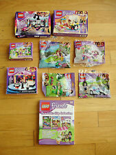 Lego Friends Lot 9 Sets Girl Princess + Book Collection Castle Pieces Minifigure