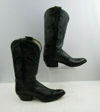 """Ladies Olathe Black Leather Western Cowgirl Boots Size : 8 AAA """"NARROW WIDTH"""""""