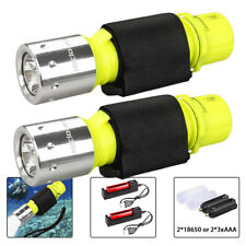 LOT Underwater Diving Scuba T6 LED Flashlight Waterproof Torch Lamp Light