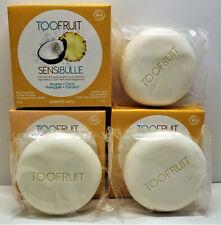 TOOFRUIT Lot 3 savons enfants Sensibulle  Ananas + Coco Visage & Corps BIO Neuf