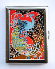 Art Nouveau Peacock Cigarette Case id case Wallet Business Card Holder