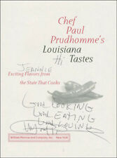 Paul Prudhomme - Inscribed Book Page Signed
