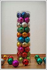 Christbaumkugeln 40er bunt - Christbaumschmuck mehrfarbig Weihnachtsbaumkugeln