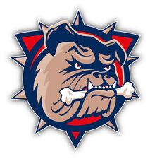 Hamilton Bulldogs AHL Hockey Head Logo Car Bumper Sticker Decal 4'' x 5''