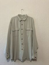 Tommy Bahama Relax Mens Long Sleeve 100% Silk Size XL