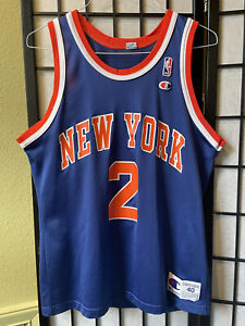 VTG Champion Larry Johnson Jersey New York Knicks RARE NBA Basketball Size 40