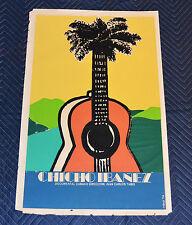 1974 Original Cuban Silkscreen Movie Poster.Chicho Ibañez.Music.Guitar.Jazz art