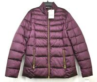 Barbour Womens Purprle Long Sleeves Front Zip Up Lawers Quilted Jacket US 8 $279