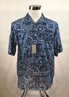 Daniel Cremieux Shirt Mens Large NWT Blue Floral Geometric