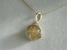 Clogau 9ct Welsh Gold Venus Rutilated Quartz & Diamond Pendant  RRP £850.00