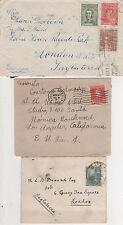 Argentina - 1907 - 1938 - 3 cubiertas comercial