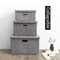 Storage Box Case With Lid Foldable Closet Collapsible Organiser Toy Clothes Book