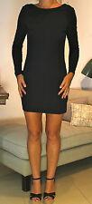 KSUBI Black Stretch Cotton Low Back Mini Dress UK10