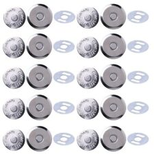 10 Sets Magnetic Snap Clasps Metal 14mm 16mm For Sewing Purse Handbag Bag Craft