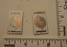 TWO Old 1989 Limited Edition NBA Basketball Pins - Portland Trail Blazers