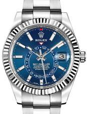 Rolex Sky-Dweller 18k Gold & Steel Blue Dial 42mm Watch Box/Papers 326934