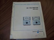 HP 400E/400EL AC Voltmeter Operating and Service Manual.