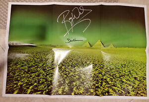 Pink Floyd Signed Poster 1973 Dark Side Of The Moon By Waters & Gilmour