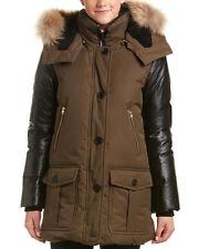 Mackage Cynthia Leather-Trim Down Coat MSRP $1150 Size XXS # E 9/XXS Blm