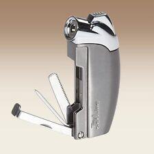 Jetline Samba Soft Flame Pipe Lighter Built in Pipe Tools - Gun Metal