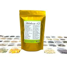 Lot of 10X Heirloom 42 Vegetable Variety Packs Usa Fresh Seed Bank 12,800+ Seeds