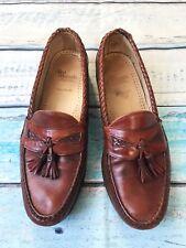 Allen Edmonds Maxfield sz 10 1/4 Men's Shoes Brown Cognac Leather Tassels