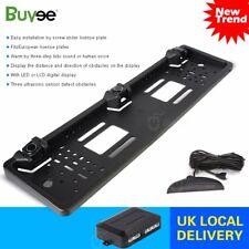 Universal Car Rear Number Plate Frame & 3 Reversing Parking Sensor System Kit UK