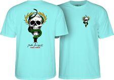 Powell Peralta Mike McGill Skull And Snake Skateboard T Shirt Celadon Xl