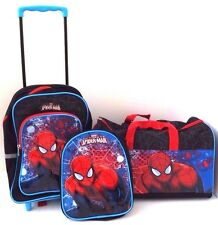 Marvel Ultimate Spider-Man Boy's Trolley Backpack, Sports Bag And Mini Backpack