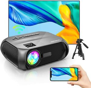 """Bomaker WiFi Projector, Wireless Screen Mirroring, Supports 1080p, Supports 300"""""""