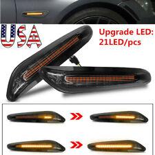 2X Dynamic LED Side Marker Turn Signal Lights For BMW E90 E91 E92 E93 E60 E82 US