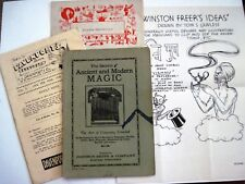 "1940's  ""Magic Collection"" of (9) Pieces of Items w/ Magic Tricks & Information*"