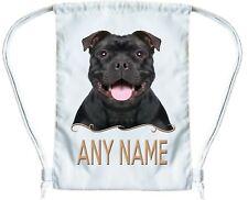 Negro Staffordshire Bull Terrier Personalizado Bolsa De Deporte Para Boys & Girls Sport Bolsa