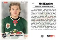 2021 SC #144 Kirill Kaprizov white Minnesota Wild RC Rookie HOT INVEST