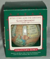 Ornament Xmas Holiday Betsey Clark Home For Christmas Glass Collector's Hallmark