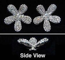 Gorgeous Pave Concave Daisy Shoe Clips Charms--1 Pair-Bridal Party-