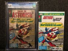 Tales to Astonish #57 CGC 6.0 Spider-Man MISSING EMBLEM Giant-Man Wasp Marvel 64