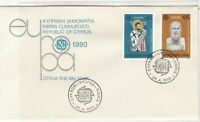 Cyprus 1980 Europa CEPT Picture Slogan CEPT Cancels FDC Stamps Cover Ref 27645