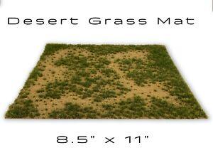 Desert Static Grass Mat Model Scenery Landscape Ground Cover Tufts Grass RR Mini