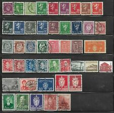 44 Different Used Norway Stamps