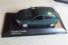 400166170  MINICHAMPS 1:43 SCALE ~TOYOTA COROLLA 5 DOOR 2001 ~ GREEN METALLIC