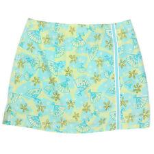 LILLY PULITZER Asian Fan Blue Green Skort Skirt Petite - 8P