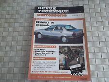 REVUE TECHNIQUE CARROSSERIE RENAULT 19 CHAMADE depuis 1988