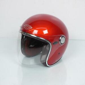 Helmet Jet Man Woman Taille L 59-60 Torx Salt Lake Rainbow Red Gloss New