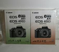 Canon Rebel Xti EOS 400D Instruction Manuals - English/Spanish - Sealed!