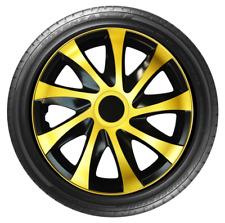 "4x Wheel Covers Hub Caps 14Inch Universal Wheel Trims ABS 14"" Trim [DRACOGOLD]"